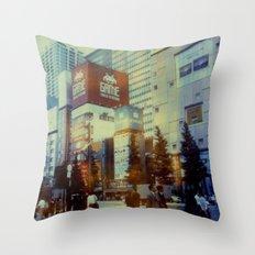 Tokyo Dreaming Polaroid Throw Pillow
