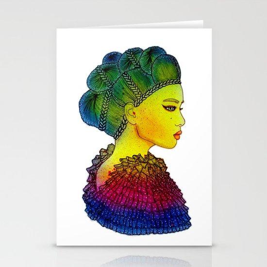 Rainbow Power Girl! Stationery Card