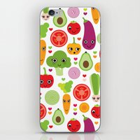 Veggie Friends And Smile… iPhone & iPod Skin