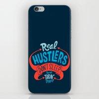 Real Hustlers Don't Sleep. We Takin' Naps. iPhone & iPod Skin