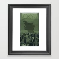 Every City Has Its Creature - Tokyo Framed Art Print