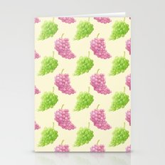 Green & Red Grapes Pattern Remix Stationery Cards