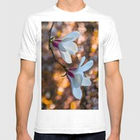 Blooming Magnolia Mens Fitted Tee White SMALL