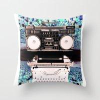 Stereo Type Throw Pillow