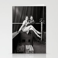 wes anderson Stationery Cards featuring WES & ANJELICA by VAGABOND