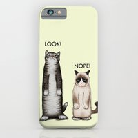 iPhone & iPod Case featuring Look!-Nope by Tummeow
