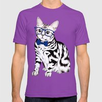 Kitty Mens Fitted Tee Ultraviolet SMALL