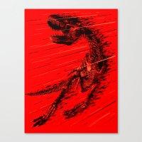 Extinction of a T Rex Canvas Print