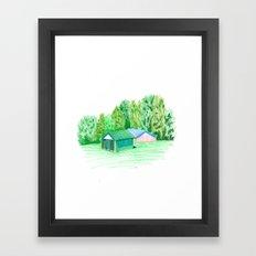 Park Buildings Framed Art Print