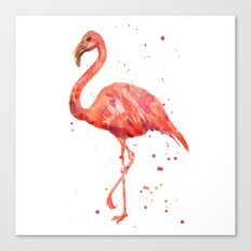 Flamingo, Pink Flamingo, Tropical, bird art, Florida Canvas Print