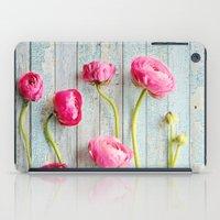 pink ranunculus iPad Case