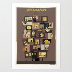 Archiwindow Building Art Print