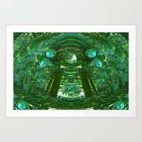 Abstract Gazebo Art Print
