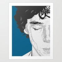 Sherlock Close-Up Art Print