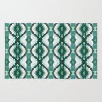 Watercolor Green Tile 1 Rug
