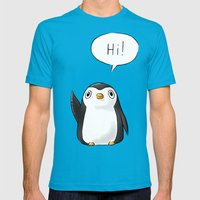 Hi Penguin Mens Fitted Tee Teal SMALL