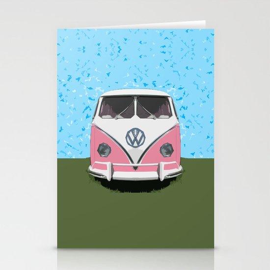 VW Kombi Love van Stationery Card