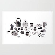 Breakfast time on Sundays Art Print