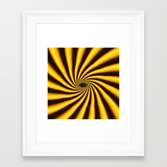 Twisted Sunshine Framed Art Print