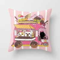 IceCream Truck Throw Pillow