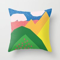 Them Rolling Hills Throw Pillow