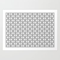 Aelbrecht Grey Pattern Art Print