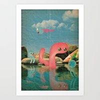 Lago Animato Art Print