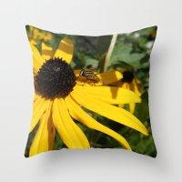 Yellow Flower #1 Throw Pillow