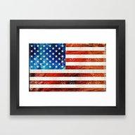 American Flag Art - Old … Framed Art Print