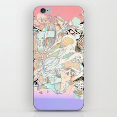 mushrooms & horses iPhone & iPod Skin