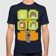 Scooby Mens Fitted Tee Navy SMALL