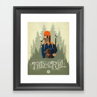 Tails Of The Trail Framed Art Print