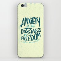 Kierkegaard On Anxiety iPhone & iPod Skin