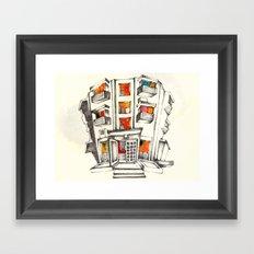 Japanese building Framed Art Print