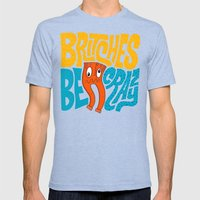 Britches Be Crazy Mens Fitted Tee Tri-Blue SMALL