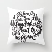 grand adventure Throw Pillow