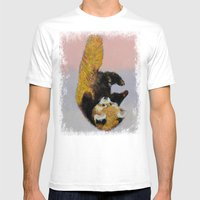 Red Panda Cub Mens Fitted Tee White SMALL
