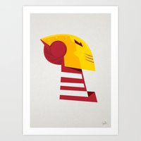 Classic man of iron Art Print