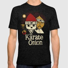 The Karate Onion Mens Fitted Tee Tri-Black SMALL