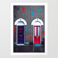 Red vs Blue 01 Art Print