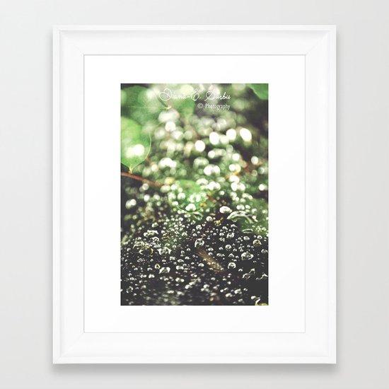 Bubble love Framed Art Print