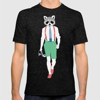 Raccoon Mens Fitted Tee Tri-Black SMALL