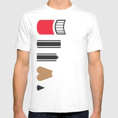 What a pencil looks like SMALL White Mens Fitted Tee