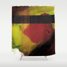 greenblack Shower Curtain