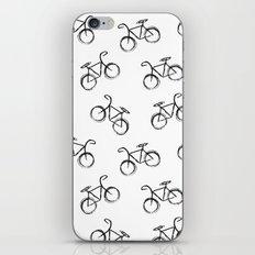 Sketchy Black and White Bicycle Bike iPhone & iPod Skin