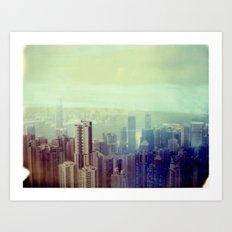 Hong Kong Polaroid Art Print