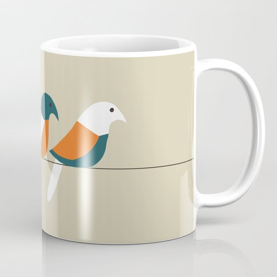 Birds on wire Mug