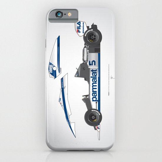 Outline Series N.º6, Nelson Piquet, Brabham BT-52 BMW, 1983 iPhone & iPod Case