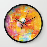 OFF THE GRID Colorful Pa… Wall Clock