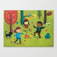 Fall Foliage Fun Canvas Print